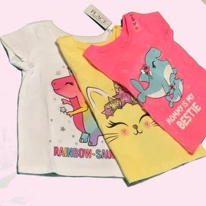 NWT C.Place 18-24m graphic shirts 3 pack